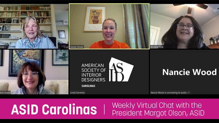 Weekly Virtual Chats with the ASID Carolinas President