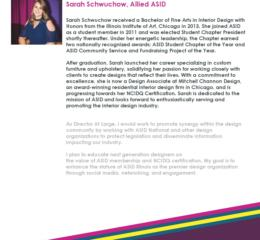 Sarah Schwuchow, Allied ASID Director at Large 2018-2020